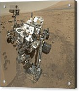 Self-portrait Of Curiosity Rover Acrylic Print by Stocktrek Images