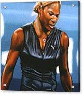 Serena Williams Acrylic Print by Paul Meijering