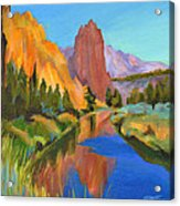 Smith Rock Canyon Acrylic Print by Tanya Filichkin