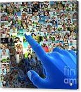 Social Media Network Acrylic Print by Michal Bednarek