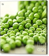 Spilled Bowl Of Green Peas Acrylic Print by Elena Elisseeva