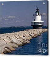Spring Point Ledge Lighthouse Acrylic Print by Bruce Roberts