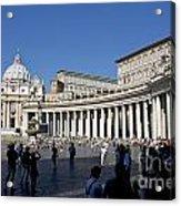 St Peter's Square. Vatican City. Rome. Lazio. Italy. Europe Acrylic Print by Bernard Jaubert