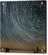 Star Trails 1 Acrylic Print by Benjamin Reed