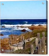 Steps To The Sea Acrylic Print by Barbara Snyder