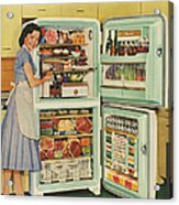 Stor-mor  1950s Uk Fridges Freezers Acrylic Print by The Advertising Archives