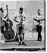 Street Musicians Of Rome Acrylic Print by Mountain Dreams