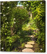 Summer Garden And Path Acrylic Print by Elena Elisseeva