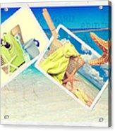 Summer Postcards Acrylic Print by Amanda Elwell
