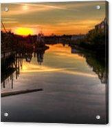 Sunrise On The Petaluma River Acrylic Print by Bill Gallagher