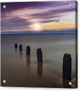 Sunset Beach Acrylic Print by Ian Mitchell