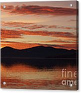 Sunset Over Lake Tahoe Acrylic Print by Benjamin Reed