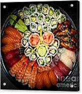 Sushi Party Tray Acrylic Print by Elena Elisseeva