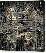 Technically Electronic Background Acrylic Print by Diuno Ashlee