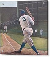 The Babe Sends One Out Acrylic Print by Mark Haley