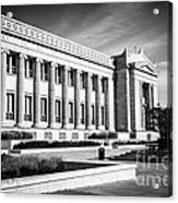 The Field Museum In Chicago In Black And White Acrylic Print by Paul Velgos