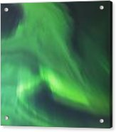 The Green Northern Lights Corona Acrylic Print by Kevin Smith