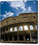 The Majestic Coliseum - Rome Acrylic Print by Luciano Mortula