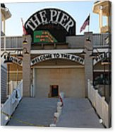 The Pier Acrylic Print by Michael Mooney