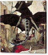 The Plague Acrylic Print by Arnold Bocklin