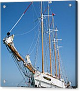 The Tall Ship Windy Acrylic Print by Dale Kincaid