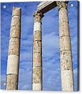 The Temple Of Hercules In The Citadel Amman Jordan Acrylic Print by Robert Preston