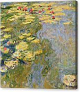 The Waterlily Pond Acrylic Print by Claude Monet