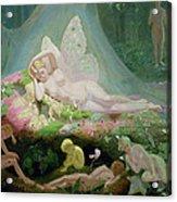 There Sleeps Titania Acrylic Print by John Simmons