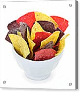 Tortilla Chips Acrylic Print by Elena Elisseeva