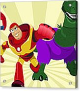 Toy Story Avengers Acrylic Print by Lisa Leeman
