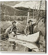 Trapping In The Adirondacks Acrylic Print by Winslow Homer