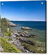View Of Rock Harbor And Lake Superior Isle Royale National Park Acrylic Print by Jason O Watson