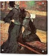 Visit To A Museum Acrylic Print by Edgar Degas