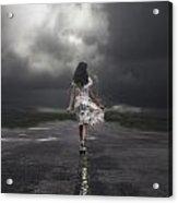 Walking On The Street Acrylic Print by Joana Kruse