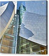 Walt Disney Concert Hall Vertical Los Angeles Ca Acrylic Print by David Zanzinger