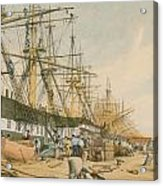 West India Docks From The South East Acrylic Print by William Parrot