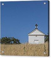White Country Church Acrylic Print by David Litschel