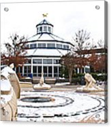 Winter In Coolidge Park Acrylic Print by Tom and Pat Cory