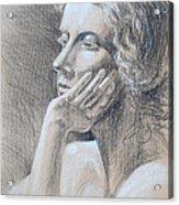 Woman Head Study Acrylic Print by Irina Sztukowski