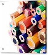 Crayons Acrylic Print by Chevy Fleet