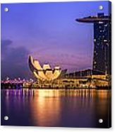 Singapore City Acrylic Print by Anek Suwannaphoom