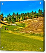 #12 At Chambers Bay Golf Course - Location Of The 2015 U.s. Open Championship Acrylic Print by David Patterson