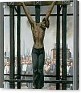 15. Jesus Dies / From The Passion Of Christ - A Gay Vision Acrylic Print by Douglas Blanchard