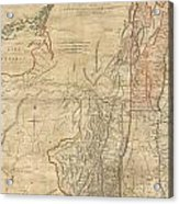 1768 Holland  Jeffreys Map Of New York And New Jersey  Acrylic Print by Paul Fearn