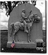 17th Pennsylvania Cavalry Monument Gettysburg Acrylic Print by James Brunker