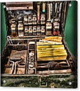 1800's Fingerprint Kit Acrylic Print by Lee Dos Santos