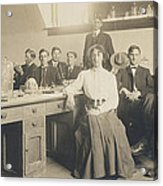 1800s Medical School  Acrylic Print by Paul Ashby Antique Image