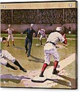 1898 Baseball -  American Pastime  Acrylic Print by Daniel Hagerman