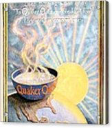 1906 - Quaker Oats Cereal Advertisement - Color Acrylic Print by John Madison