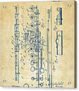 1908 Flute Patent - Vintage Acrylic Print by Nikki Marie Smith